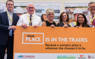 Hey, ladies! LNG Canada is offering all expenses paid chance to work in trades